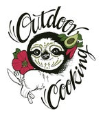 """Image of Sticker """"Outdoor Cooking"""" Faultier"""
