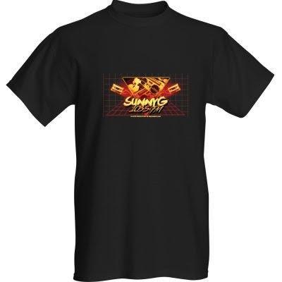Image of Sunny G black and orange teeshirt