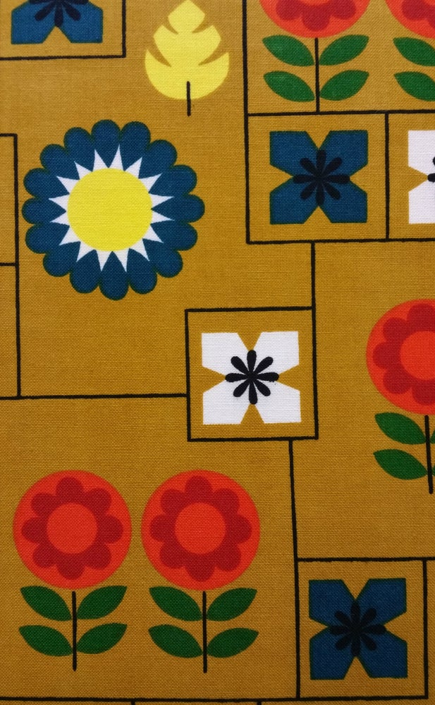 Image of Mustard Scandi Floral - fat quarter