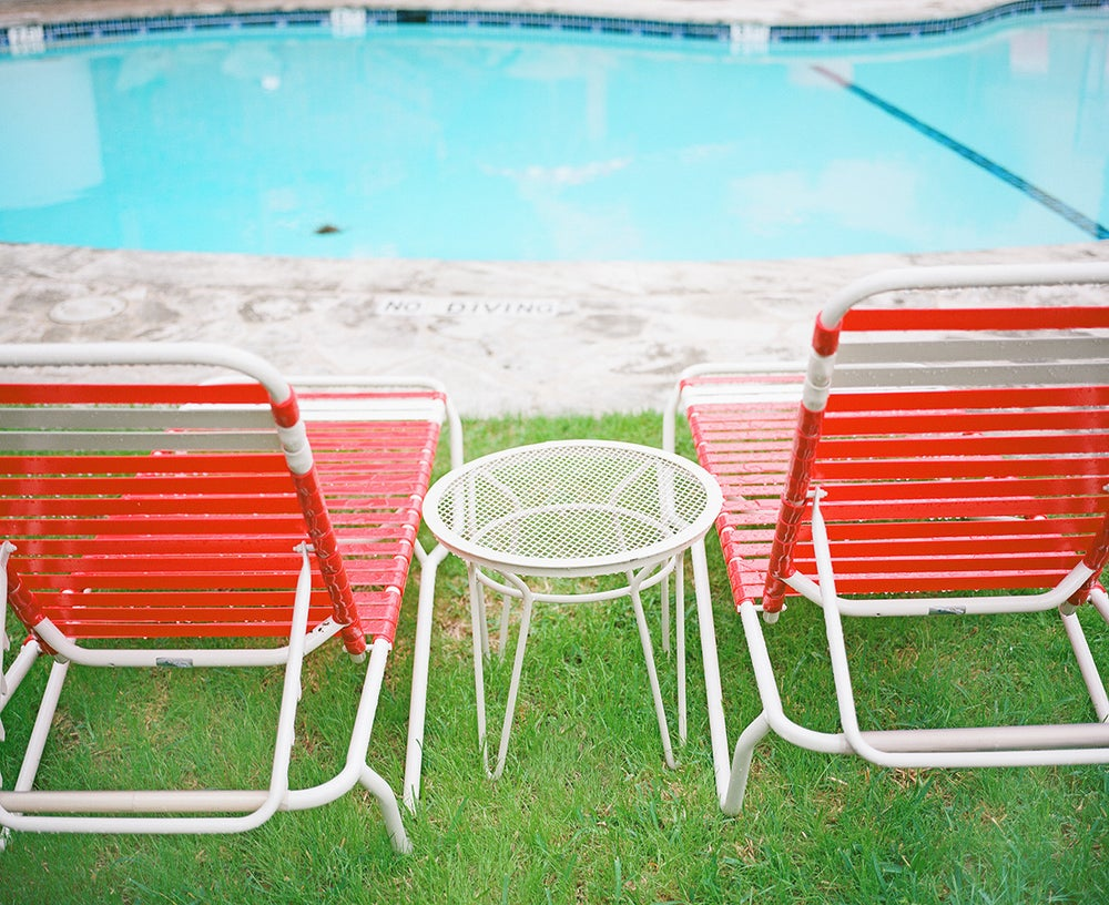 Image of pool chairs