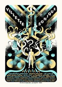 Image of VILLETTE SONIQUE Festival (Paris 2017) screenprinted poster
