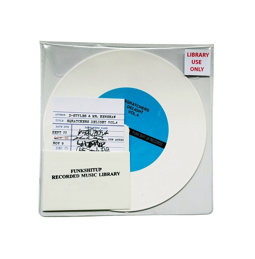 "Image of D-Styles x Mr. Henshaw - Sqratchers Delight Vol. 4  7"" White Vinyl"