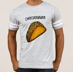 Image of Taco/Hamburger Men's Grey Athletic Style T-Shirt