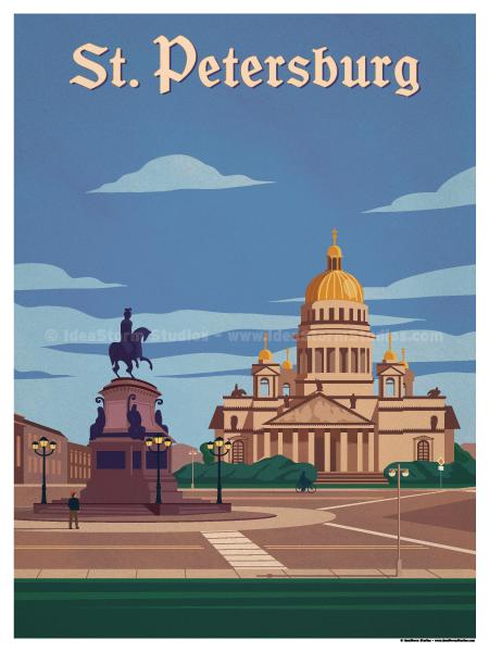Image of St. Petersburg Poster