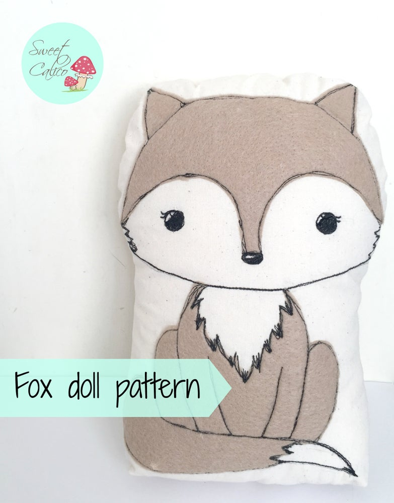 Image of Pattern for Fox doll