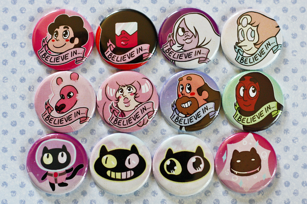 Image of Steven Universe Button Set