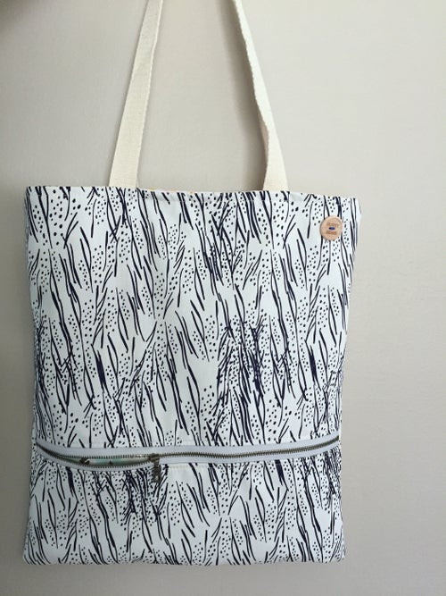 Image of Navy Lines Everyday Bag