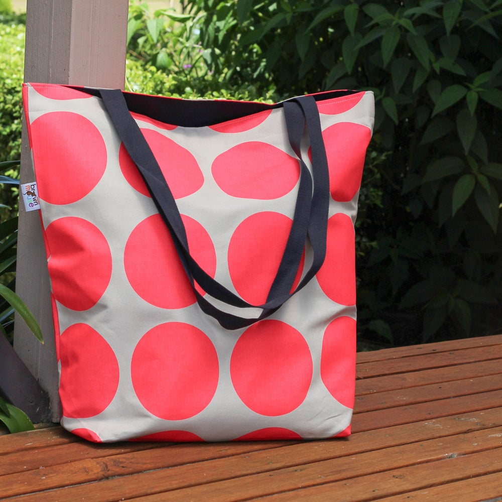 Image of Pink Spot Tote Bag