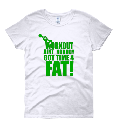 """Image of """"Workout"""" Tee WHITE"""