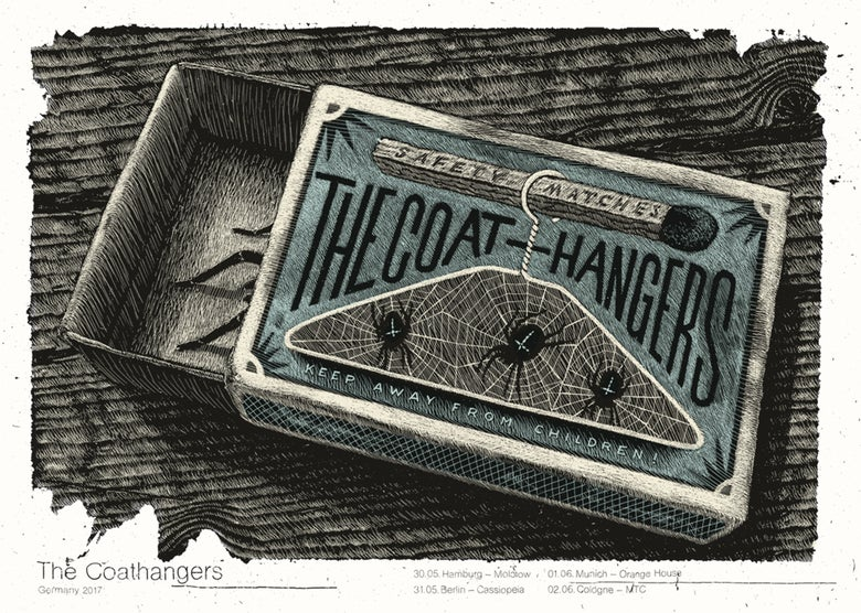 Image of »THE COATHANGERS« Gig-Poster