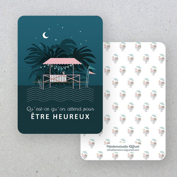 Image of Carte Être heureux