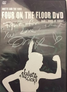 Image of *SIGNED* Four On The Floor DVD (damaged case)