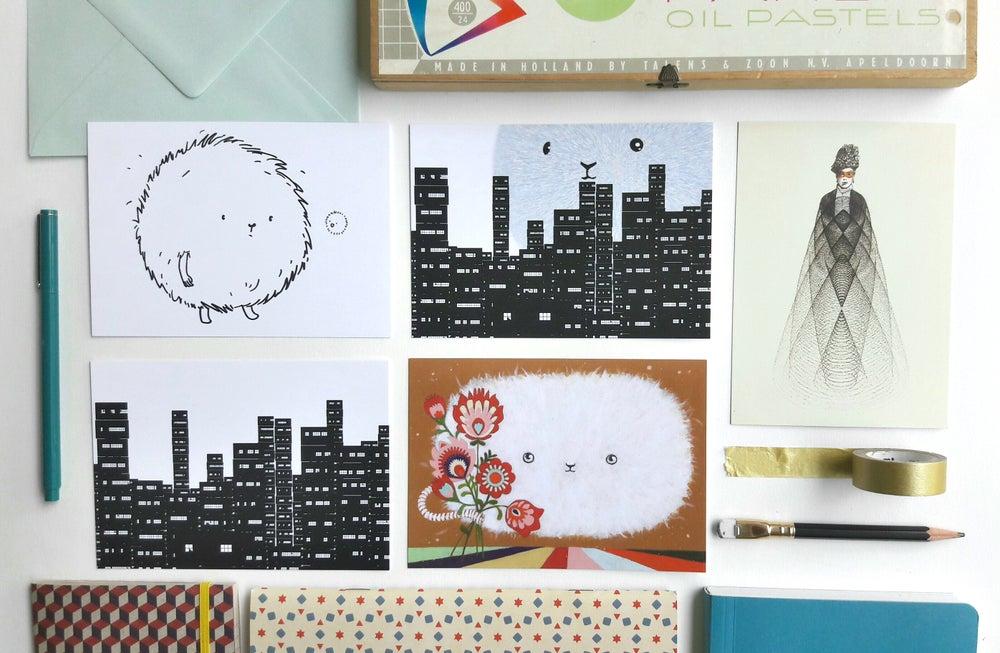 Image of postcard set of 5