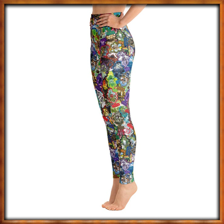 Image of All Over Trees Yoga Pants