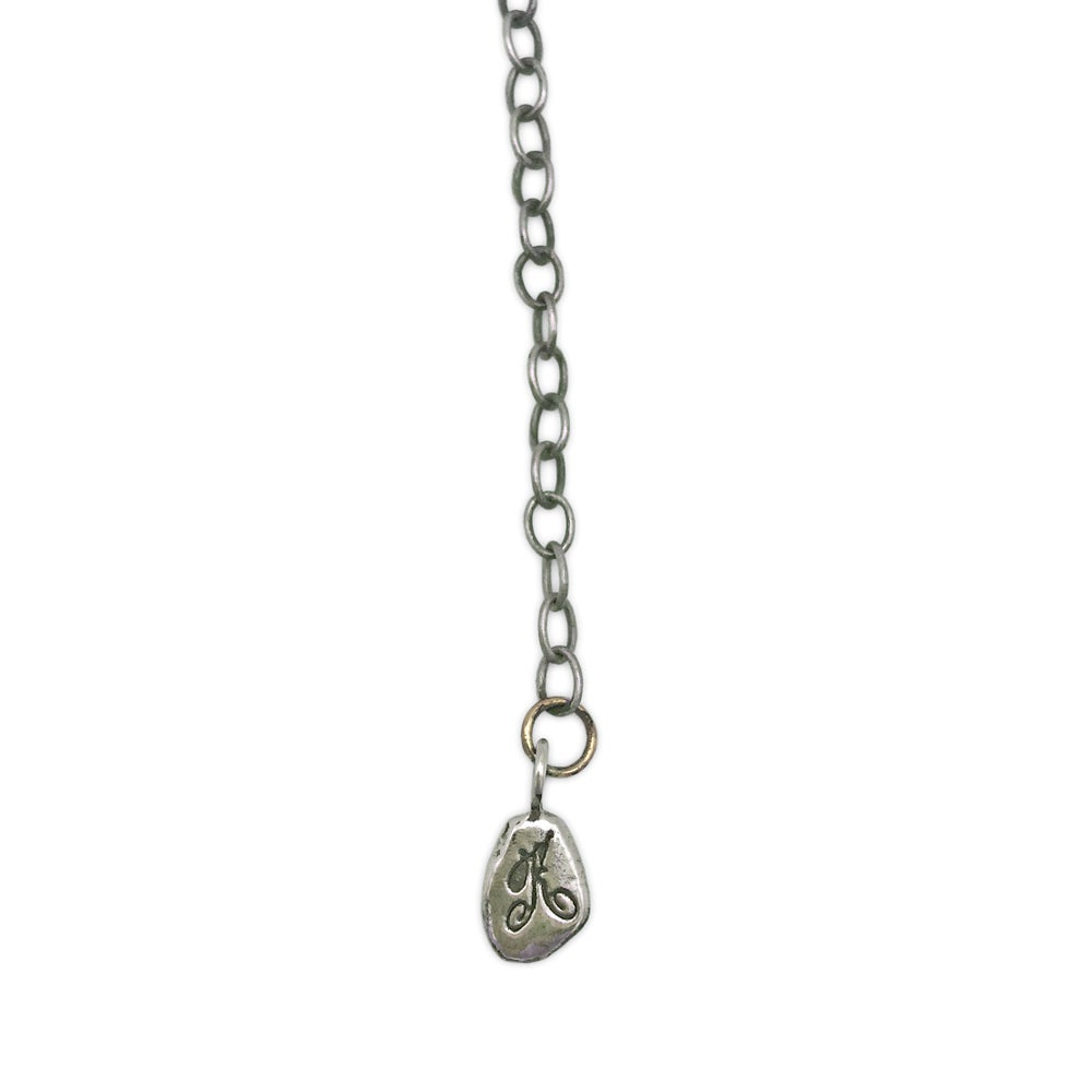 Image of coyote paw bones necklace (P95SIL20)