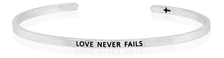Image of Love Never Fails bracelet by FaithfulBand