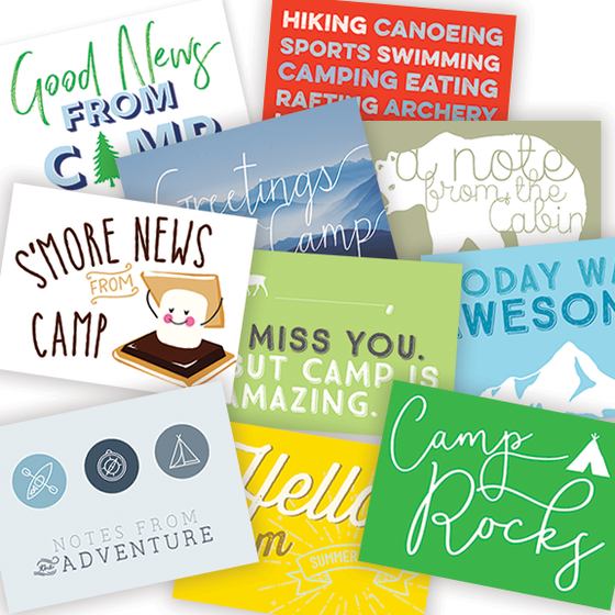 Image of Assorted Camp Postcards