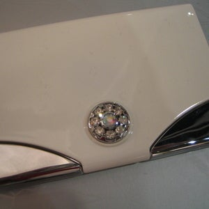 Abry abry mirrored business card holder with swarovski crystals abry mirrored business card holder with swarovski crystals colourmoves