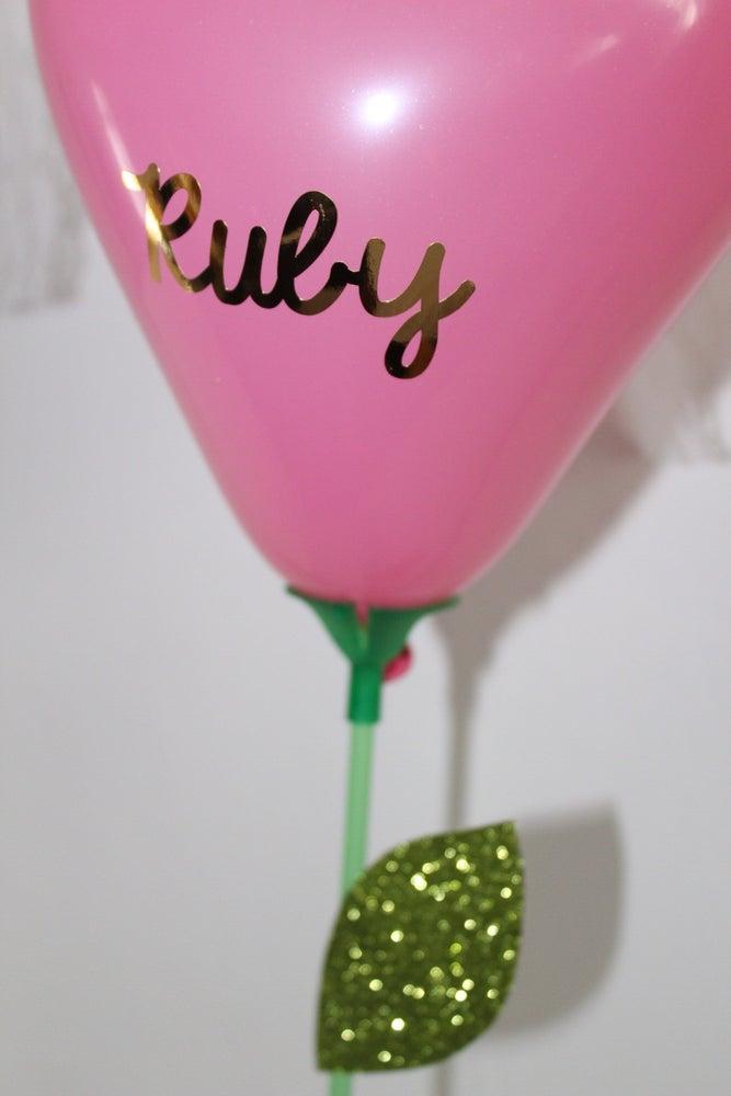 Image of Heart posey balloons