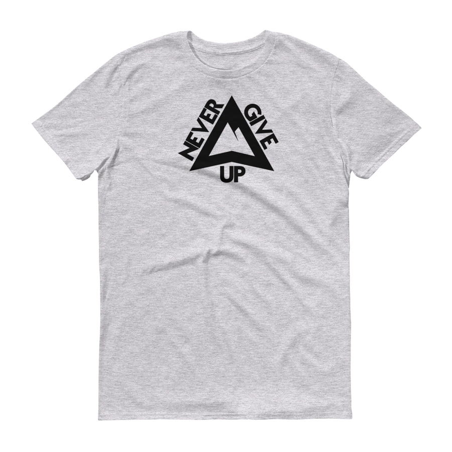 Image of Never Give Up T-shirt - Heather Grey