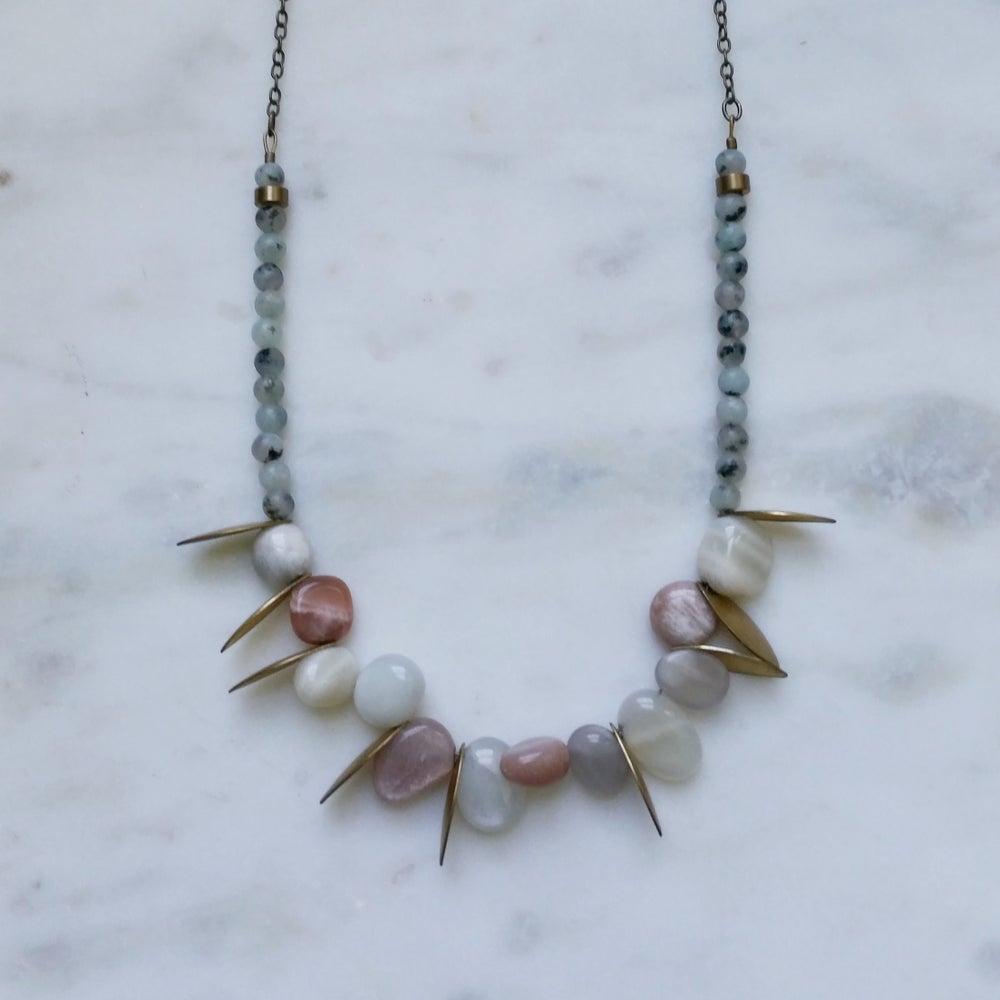 Image of Moonstone Petals Collar