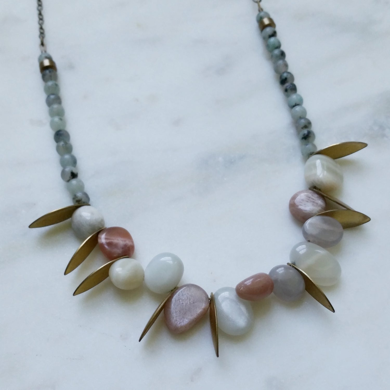 Image of Moonstone Petals Collar