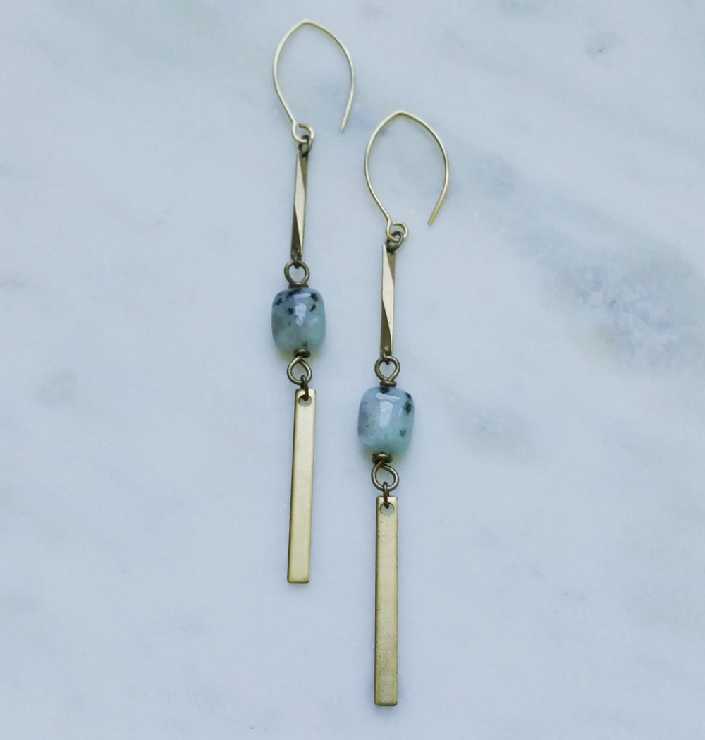 Image of Ocean Line Earrings