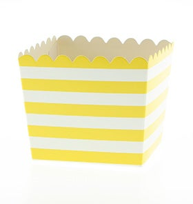 Image of Yellow Stripe Scallop Favour Box