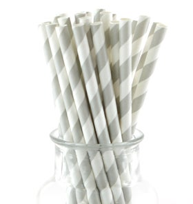Image of Grey Striped Straws