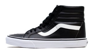 Image of Tumble Leather Sk8-Hi Black
