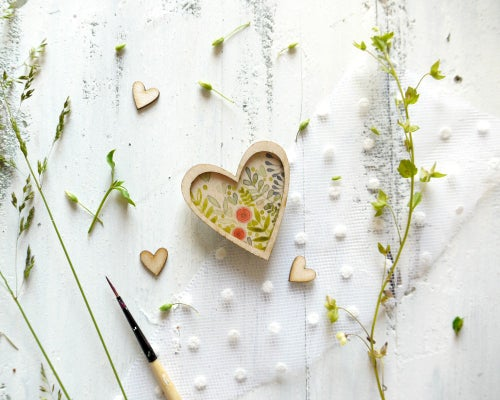 Image of Nature heart brooch