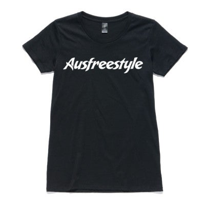 Image of Original Ausfreestyle Womens Tee - Black