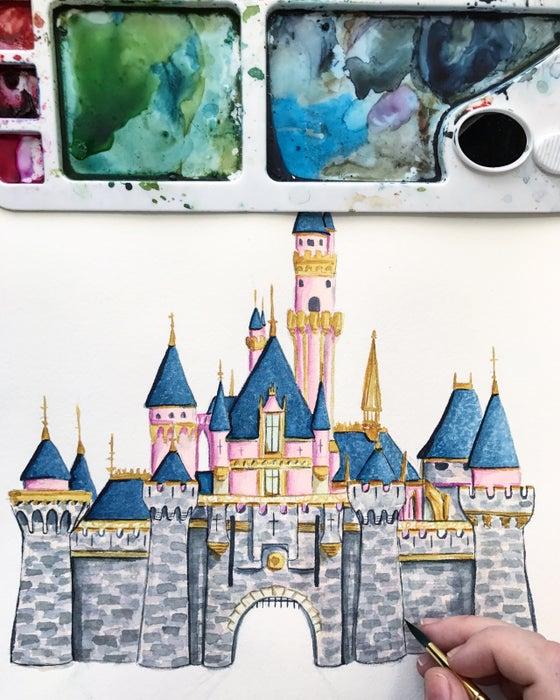 Image of Sleeping Beauty's castle
