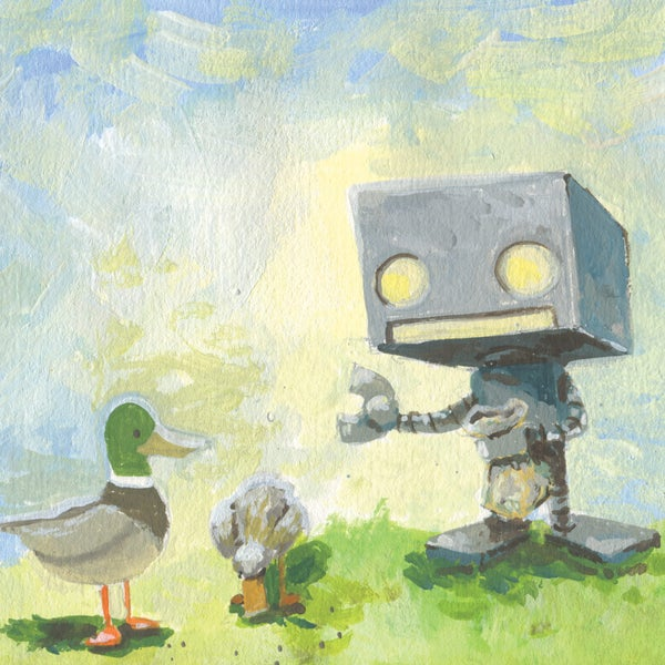 Feeding the Ducks - Matt Q. Spangler Illustration