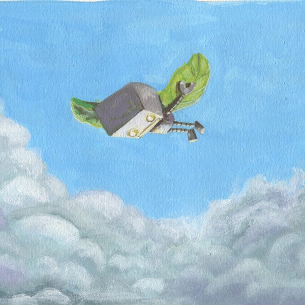 In the clouds - Matt Q. Spangler Illustration