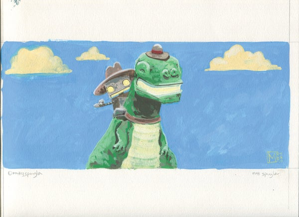 Dino Hat - Matt Q. Spangler Illustration