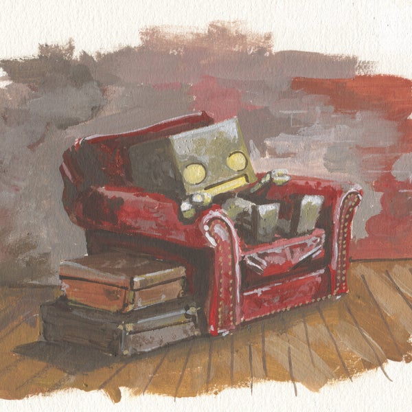 The Comfy Chair - Matt Q. Spangler Illustration