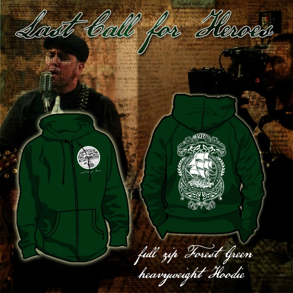 Image of LCFH Full Zip  Green Hoodie