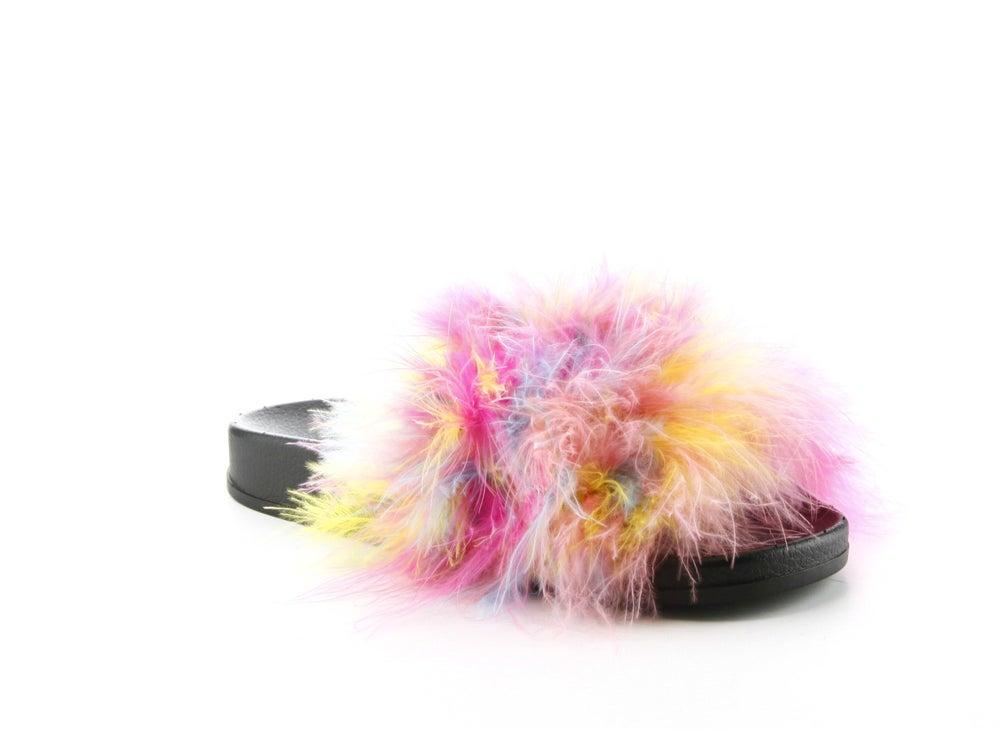 Image of real fur slides