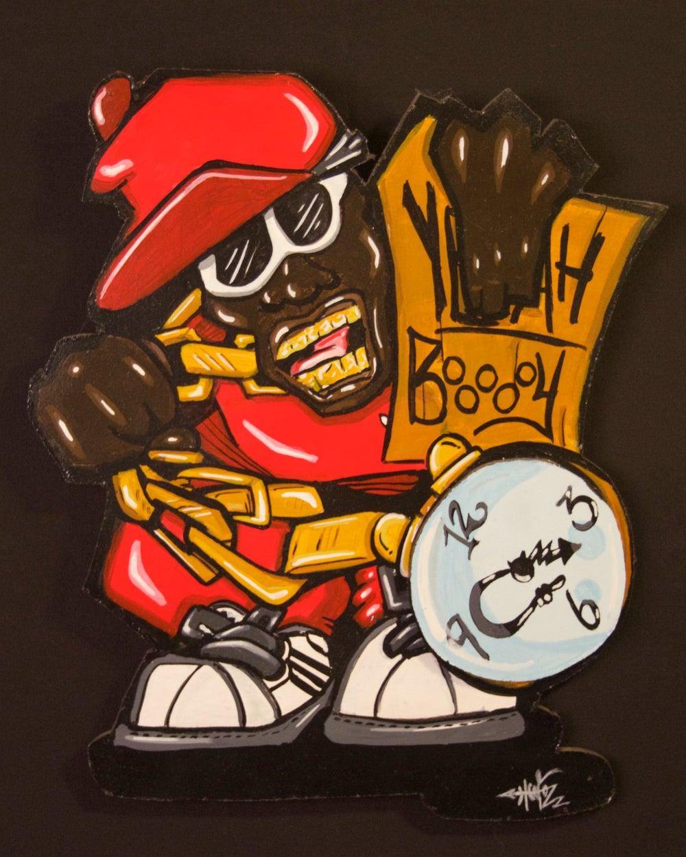 """Image of """"Yeaaaah Buooooooy!"""" Painting on wood cutouts"""
