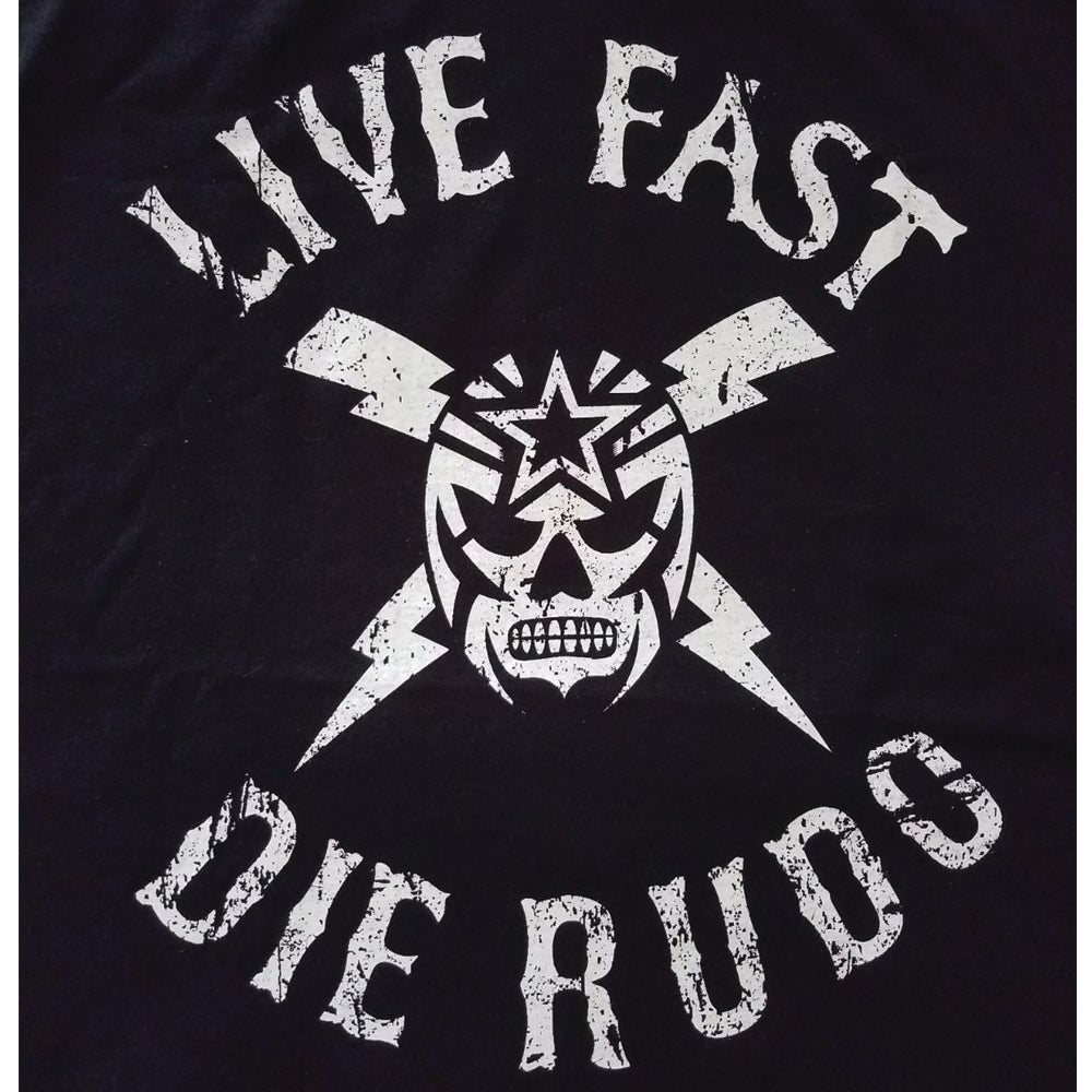 Image of Saints & Rudos™ - Live Fast, Die Rudo Thunderbolt T-shirt (SOLD OUT! RETURNS AT SDCC)