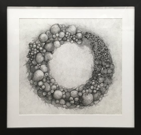 "Image of ""Ouroboros II - the fruits of labor are spoils of war""   -  framed, Giclee`"