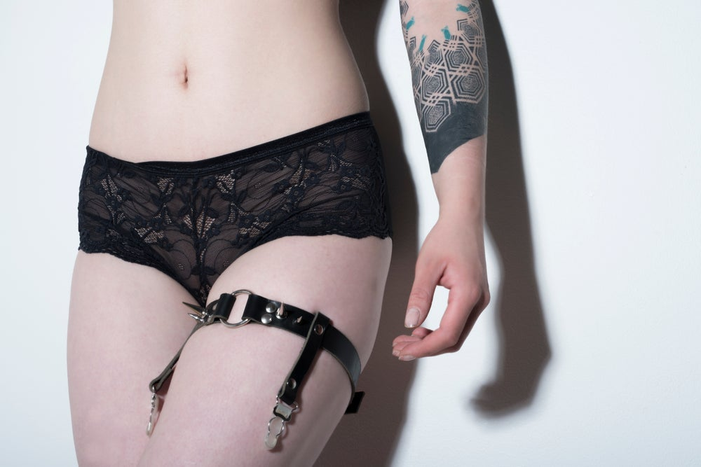 Image of Spiked thigh garter