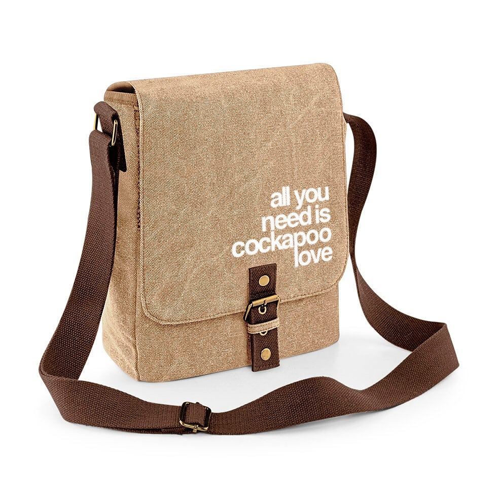 Image of Cockapoo Luvr Vintage Canvas Shoulder Bag
