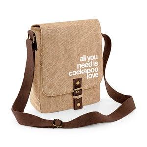 Image of Cockapoo Luvr Vintage Canvas Shoulder Bag