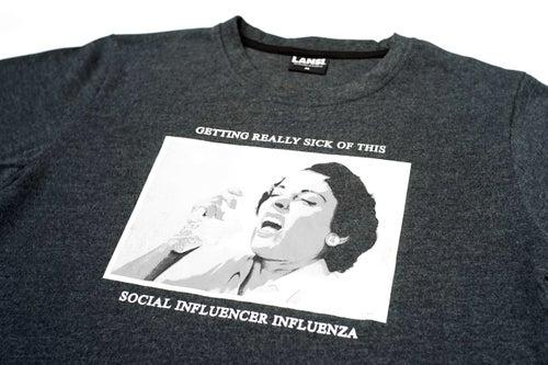 """Image of LANSI """"Influenza"""" T-shirt (Dark Melange)"""