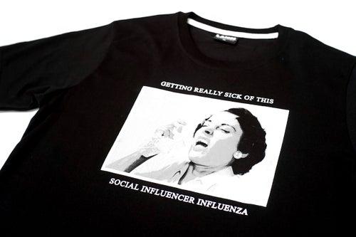 """Image of LANSI """"Influenza"""" T-shirt (Black)"""