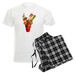 Image of Black Plaid Men's Bloody Mary Pajamas