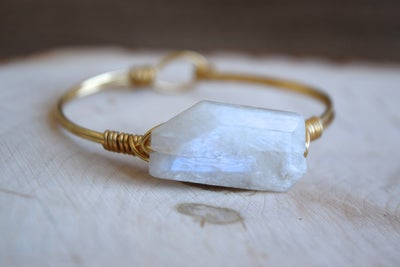 Image of Moonstone Clasp Bangle