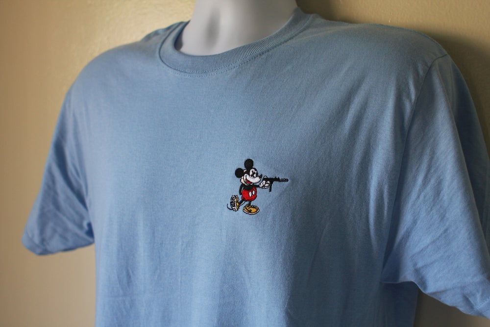 "Image of ""Reign of the Tec"" Tee in Baby Blue"